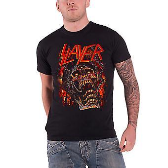 Slayer T skjorte kjøtt kroker skjelett grav bandet Logo offisielle Mens nye svart