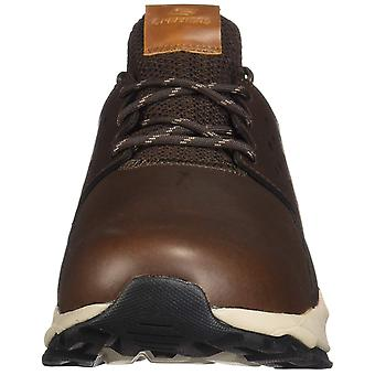 Skechers Mens Relven Leather Low Top Lace Up Fashion Sneakers