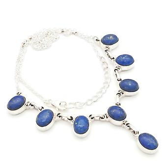 Lapis Lazuli Necklace 925 Silver Sterling Silver Necklace Necklace Blue (MCO 05-06)