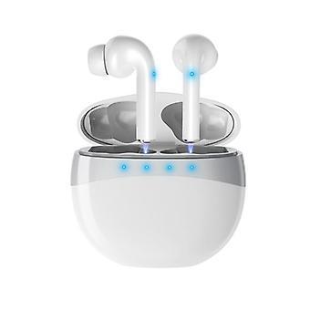 Draadloze in oorhoofdtelefoon met het laden geval - wit