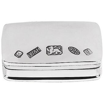 Orton West Display Hallmark Pill Box  - Silver