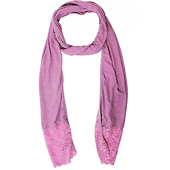 A Postcard from Brighton Pink Marl Lace Detailed Scarf