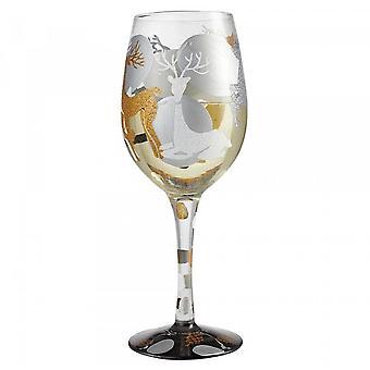 Lolita Visions Of Reindeer Wine Glass