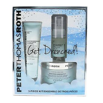 Peter Thomas Roth Get Drenched 3-teiliges Kit: Reiniger 30ml + Hyaluronic Cloud Serum 15ml + Hydrating Moisturizer 50ml - 3pcs
