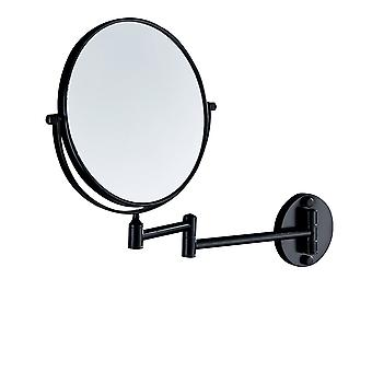 Aluminum Rotatable Wall-mounted Makeup Mirrors Free Perforated Collapsible Telescopic Mirrors