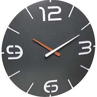 TFA Dostmann 60.3536.10 Radio Wall clock 35 cm x 3.5 cm Anthracite