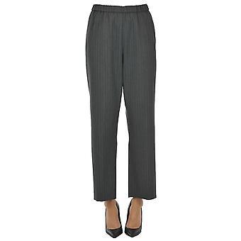 Dries Van Noten Ezgl093165 Women's Grey Polyester Pants