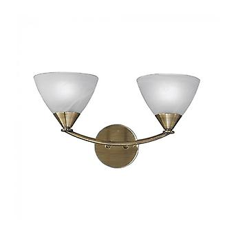 Brushed Bronze Wall Light Meridian 2 Bulbs