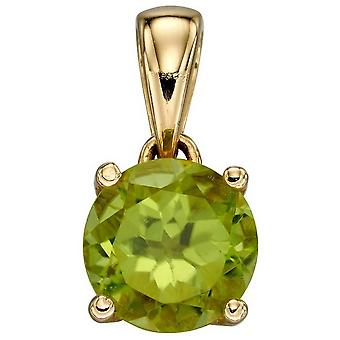 Elements Gold August Birthstone Pendant - Green/Gold