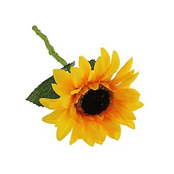 30cm Single Artificial Sunflower Stem for Floristry Crafts
