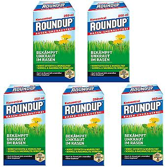 Sparset: 5 x ROUNDUP® Lawn Weed-Free, 250 ml