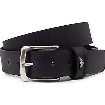 Armani Emporio Eagle Detail Leather Belt