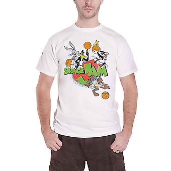 Space Jam T Shirt Group Logo new Official Mens White