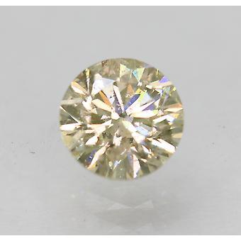 Certified 0.70 Carat L VS2 Round Brilliant Enhanced Natural Loose Diamond 5.47mm