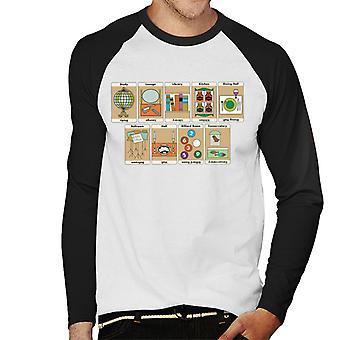 Hasbro Cluedo Huoneet Mansion Miehet&s Baseball Pitkähihainen T-paita