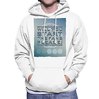 The Crystal Maze Will You Start The Fans Please Tonal Men's Hooded Sweatshirt