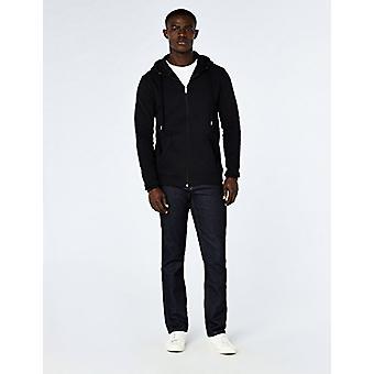 MERAKI Men's Standard Zip Hoodie, Svart, EU XXXL (US XL - XXL)