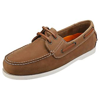 Sterling & Hunt Rio Mens Boat Shoes in Chestnut
