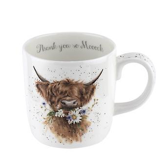 Wrendale Thank You Cow Mug