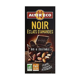 Dark chocolate with organic almond pieces 100 g