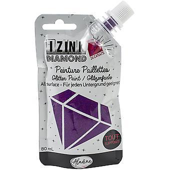 Aladine Izink Diamond Glitter Paint 24 Carats Purple 80ml
