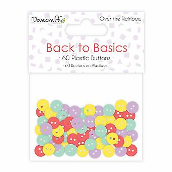 Dovecraft Back to Basics Over The Rainbow Plastic Buttons