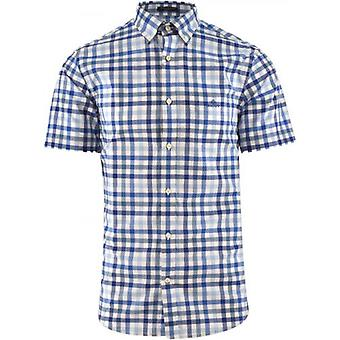 GANT Blue Short Sleeve 2 Colour Shirt