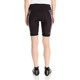 Pearl iZUMi Women's Elite Pursuit Tri Shorts, Black/Purple Wine Stripe, Large