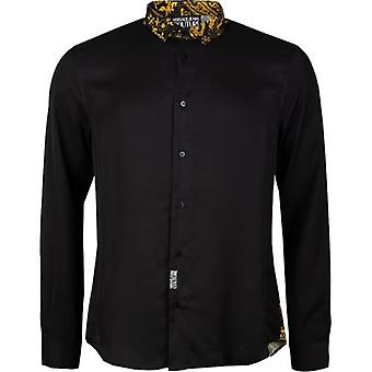Versace Jeans Couture Baroque Print Collar Shirt