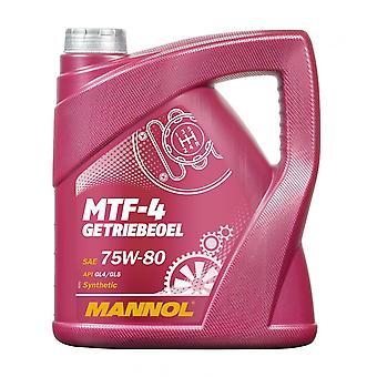 Mannol 4L Huile d'engrenage synthétique MTF-4 Getriebeoel 75W-80 API GL-4 BMW MTF LT-1/-2/-3/-4 Mo 235,10