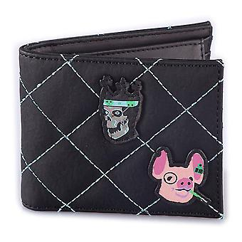 Watch Dogs Legion Quilted with Patches Bi-fold Wallet Male Black (MW780850WTD)
