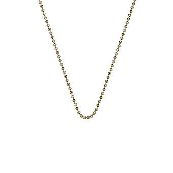 "Emozioni 24 ""sterling zilver en goud vergulde accent parel ketting CH062"
