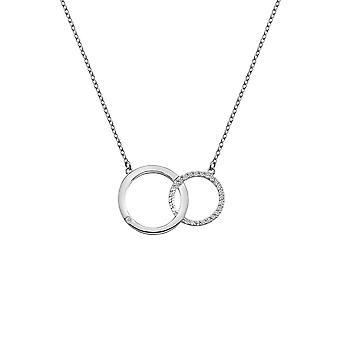 Hete diamanten Bliss in elkaar grijpende cirkels hanger DN127