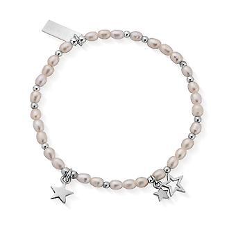 ChloBo Confetti Falls Silver Life Long Magic Pearl Bracelet 18cm SBLLMMAGIC18