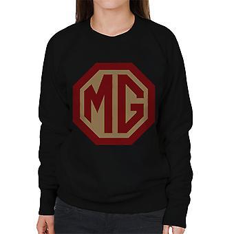 MG Punainen ja kultainen logo British Motor Heritage Women's Collegepaita