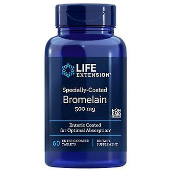 تمديد الحياة المغلفة خصيصا بروميلين، 500 ملغ، 60 أقراص مغلفة المعوية