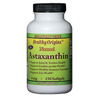 Origines saines Astaxanthine, 4 mg, 60 Gels mous