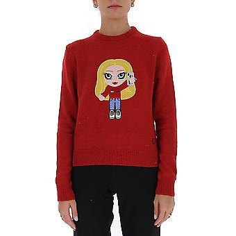Chiara Ferragni Cfjm043rd Women's Red Wool Sweater