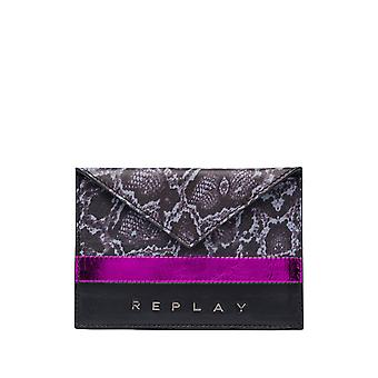 Replay Women's Card Holder Leather -Pink