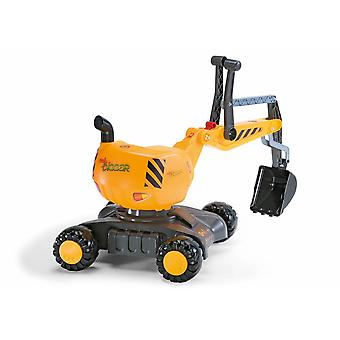 Rolly mobile 360 degree excavator yellow for 3 - 5 years old
