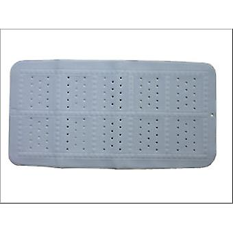 Croydex Medium Bath Mat Plain Blue BB201024