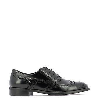 Guglielmo Rotta 3709iindionero Women's Black Leather Lace-up Shoes
