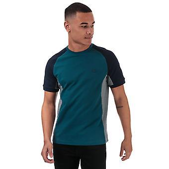 Men's Lacoste Colourblock T-Shirt en bleu