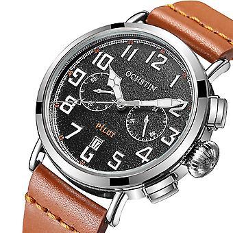OCHSTIN G'077A Календарь Случайный Стиль Мужчины Wrist Часы Кожаный ремешок Элегантный