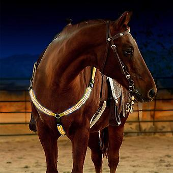 Breastplate Dual Led Horse Harness Nylon, Night Visible Horse Riding Equipment