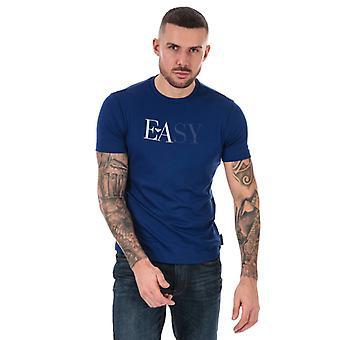 Menn's Armani Logo T-skjorte i blått