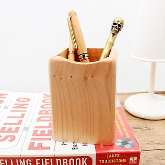 Simple Design Wood Pen Container