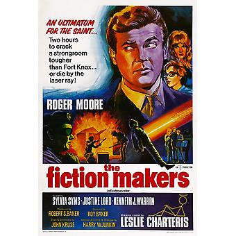 The Fiction Makers British Poster Art Top Roger Moore 1968 Movie Poster Masterprint
