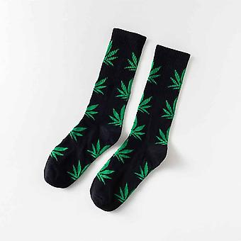 Women/men Ankle Maple Sock Hemp Meias Leaf Spring/summer Hip Hop Socks