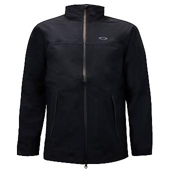 Oakley Mens Aero Jacket Zip Up Anorak Track Top Black 412485 02E